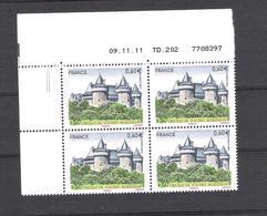 2012  - BLOC DE 4 TIMBRES NEUFS  N° 4662 - CHATEAU DE SUSCINIO - 2010-....