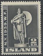 Iceland Island 1939. Mi 207, MH, Nur Eine Schwache Falzspur - 1918-1944 Unabhängige Verwaltung