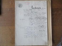 21 NOVEMBRE 1902 ECHANGE ENTRE M. EUGENE THOMAS EDOUARD COUTURE ADMINISTRATEUR DE LA SUCRERIE D'ORIGNY SAINTE BENOITE ET - Manuscritos