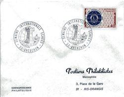 ARCACHON 1968 SEMAINE INTERNATIONAL ECHECS Jeu D'échec Tour échiquier - Postmark Collection (Covers)