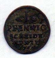 GERMAN STATES - ANHALT-BERNBURG, 1 Pfennig, Copper, 1760, KM #25.2 - Monedas Pequeñas & Otras Subdivisiones