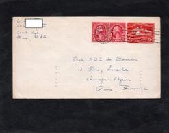 LSC 1932 - Entier Postal WASHINGTON & Timbres En Complément - Cachet CAMBRIDGE / Au Dos Cachet PARIS VIII DISTRIBUTION - 1921-40