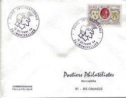 MONTPELLIER 1968 FOIRE INTERNATIONALE Mercure Commerce Dieu Du Commerce - Bolli Commemorativi