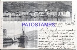 126471 SERBIA PAGO MULTI VIEW & SHIP CIRCULATED TO URUGUAY POSTAL POSTCARD - Serbie