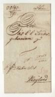 15661 01 WIEN TO MAYLAND MILANO - 1815 WITH TEXT - ...-1850 Préphilatélie