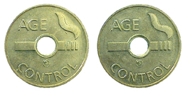03623 GETTONE TOKEN JETON CIGARETTE MACHINE TOKEN TOBACCOS AGE CONTROL - Belgium
