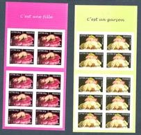 2005 - TIMBRES NEUFS ADHÉSIFS / BC 54 ET BC 55 Non Pliées  - NAISSANCES  - COTE 44 Euros - Lettre 20 G - Adhesive Stamps