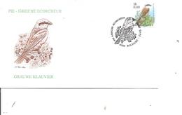 Oiseaux - Buzin - Pie Grièche écorcheur ( FDC De Belgique De 2000 à Voir) - Oiseaux
