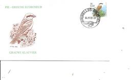 Oiseaux - Buzin - Pie Grièche écorcheur ( FDC De Belgique De 2000 à Voir) - Birds