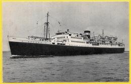 """CPA Paquebot """"PRESIDENT De CAZALET"""" Compagnie De Navigation Mixte ALGERIE TUNISIE ** Bateau Ship - Paquebots"""