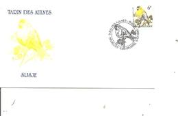 Oiseaux - Buzin - Tarin Des Aulnes ( FDC De Belgique De 1996 à Voir) - Oiseaux
