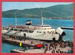 "CP- ISOLA D'ELBA - Ile D'Elbe -PORTOFERRAIO - Ferry - Paquebot ""AETHALIA"" Animation * TOP ** 2 SCANS - Italie"
