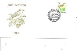 Oiseaux - Buzin - Pouillot Fitis ( FDC De Belgique De 1995 à Voir) - Oiseaux