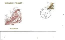 Oiseaux - Buzin - Moineau Friquet ( FDC De Belgique De 1989 à Voir) - Oiseaux