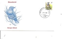 Oiseaux - Buzin - Gorge Bleue ( FDC De Belgique De 1989 à Voir) - Birds