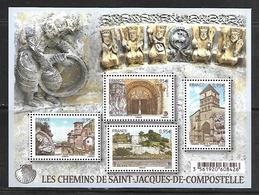 51 France F4949 Les Chemins De Saint Jacques De Compostelle N++ - Blocs & Feuillets