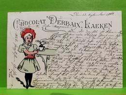 Chocolat Derbaix, Laeken. Sended To Luxembourg. Rare !!! - Laeken