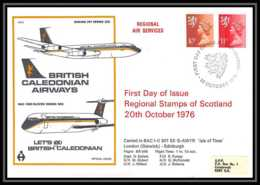 0046 Lettre Grande Bretagne Great Britain Aviation (Airmail Cover Luftpost) DAN AIR 1976 - Marcophilie