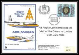 0015 Lettre Grande Bretagne Great Britain Aviation (Airmail Cover Luftpost) AIR ANGLIA 1977 - Marcophilie