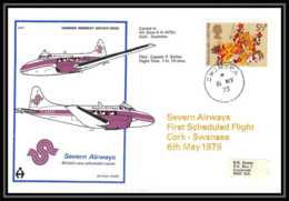 0017 Lettre Grande Bretagne Great Britain Aviation (Airmail Cover Luftpost) SEVERN AIWAYS - Postmark Collection