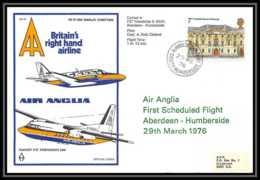 0024 Lettre Grande Bretagne Great Britain Aviation (Airmail Cover Luftpost) AIR ANGLIA 1976 - Marcophilie