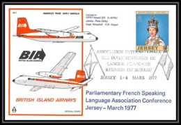0030 Lettre Aviation (Airmail Cover Luftpost) Jersey BIA British Islands Airways - Avions