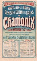 Chemins De Fer PARIS-LYON-MEDITERRANEE / Paris Aix Les Bains - Genève & Evian Les Bains à CHAMONIX - Train Express - Publicités