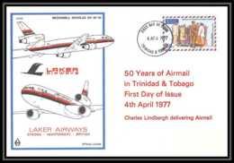0082 Lettre Aviation (Airmail Cover Luftpost) TRINIDAD LAKER AirwaysS DC10 - Aerei