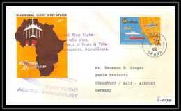 0147 Lettre Aviation (Airmail Cover Luftpost) ACCRA FRANKFURT 1962 GHANA - Vliegtuigen