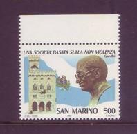 San Marino 1987 - Gandhi, La Non Violenza. 1v MNH** Integro - San Marino