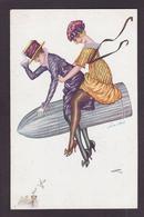 CPA Xavier SAGER Femme Girl Women Glamour éros Risque Non Circulé Noyer 688 - Sager, Xavier