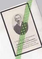 Jules Szylchabel-Desmedt, Ksawerow 1888, Oostende 1938 - Décès