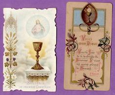 Image Pieuse Communion Villers Bocage  1896 Et 1907 - - Godsdienst & Esoterisme