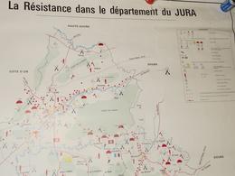 "Carte ""résistance Jura"" - 1939-45"
