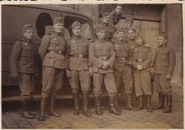 PHOTO ORIGINALE 39 / 45 WW2 WEHRMACHT AUTRICHE VIENNE SOLDATS ALLEMANDS A LA CASERNE - Guerre, Militaire