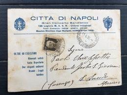 CITTA' DI NAPOLI  GRAN CONCERTO BANDISTICO 138 LEGIONE MILIZIA VOLONTARIA SICUREZZA NAZIONALE  1936   BANDA MUSICA - Napoli