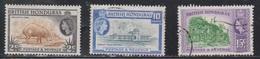 BRITISH HONDURAS Scott # 146, 149-50 MH & Used - QEII & Various Scenes - British Honduras (...-1970)