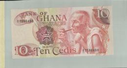 Billet De Banque Bank Of Ghana   10 Cedis 1978  DEC 2019 Gerar - Ghana