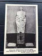 FORO D'ISCHIA MONUMENTO DELL'ARCIVESCOVO GIOVANNI REGINE NELLA BASILICA DI S. MARIA DI LORETO  SCULTORE AMEDEO GARUFI - Napoli (Naples)
