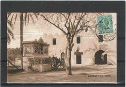 LCTN59/LE/DIV1 - TRIPOLITANIA LEONI 5c S/CPA ZANZUR / TUNIS 25/4/1914(?) - Tripolitania