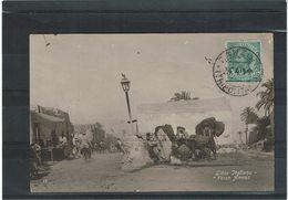 LCTN59/LE/DIV1 - TRIPOLITANIA LEONI 5c S/CPA ZANZUR / TUNIS 25/4/1914 - Tripolitania