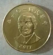 2017 Taiwan Rep Of China Sun Yat-sen SYS NT$50.00 Coin - Taiwan
