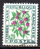 FRANCE N° Taxe 98 O Y&T 1964- 1971 Fleurs Des Champs (Pervenche) - 1960-.... Oblitérés