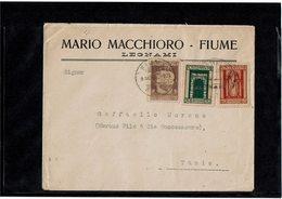 LCTN59/LE/DIV1 - FIUME LETTRE FUME X TUNIS 9/3/1924 - Fiume