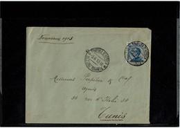 LCTN59/LE/DIV1 - ITALIE TRIPOLI MICHETTI 25c SUR LETTRE POUR TUNIS 9/6/1913 - Tripolitania