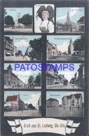 126512 GERMANY GRUSS AUS ST LUDWIG MULTI VIEW  POSTAL POSTCARD - Deutschland