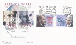 2003 Spanien  Mi 3820/3821 Spanische Nobelpreisträger Nobelpreis Ersttagsbrief  Guter Zustand (FDC)  (Michel) - FDC