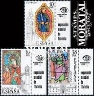 1983 España  Ed 2721/2723 Viñeta Vidrieras Vidrieras **MNH Perfecto Estado, Nuevo Sin Charnela  (Edifil) - 1931-Oggi: 2. Rep. - ... Juan Carlos I