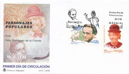 1998 España  Ed 3546/3547 Fofó Y Felix Rodriguez Personajes SPD Buen Estado (FDC)  (Edifil) - FDC