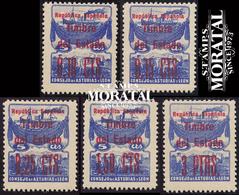 1937 España  Ed L-NE 1/5 Numero 7 Habilitado Asturias Leon **MNH Perfecto Estado, Nuevo Sin Charnela  (Edifil) - Asturias & Leon